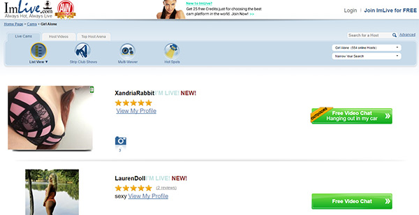 Imlive.com Site Review